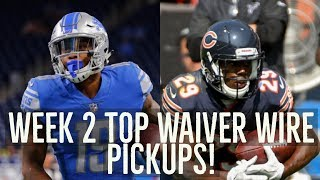 2017 NFL Week 2 Top Waiver Wire Pick Pickups!