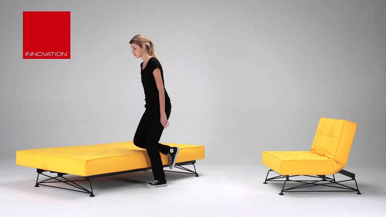 innovation klappsofa splitback grid mit bequemer dicker matratze youtube. Black Bedroom Furniture Sets. Home Design Ideas