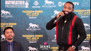 WHOA!! ADRIEN BRONER PUSHES THE LIMITS DURING PRESS CONFERENCE VS. MANNY PACQUIAO & GET'S BOO'D