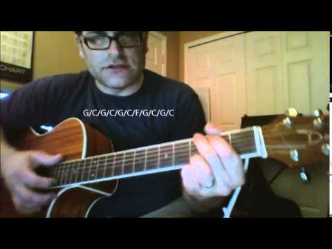 "How to play ""She's too fat for me polka"" aka ""Too Fat Polka"" by Frankie Yankovic on acoustic guitar"