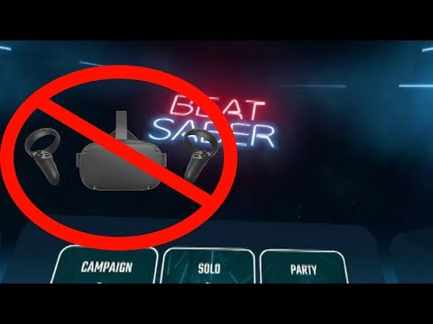 Playing Beat Saber without a VR headset