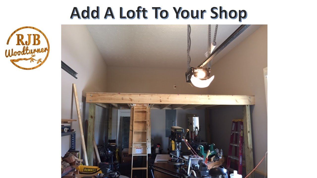 Shop loft build how to increase the storage space in for How to raise your bed frame