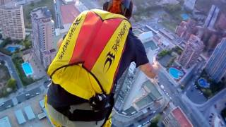 Incredible Hotel Lift Base Jump!