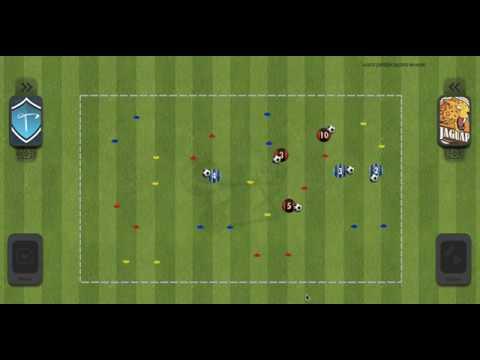 Fun Warm-up In Football / Drive The Ball - Conduite De Balle / U4 - U5 - U6 - U7 - U8 - U9