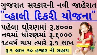 વ્હાલી દીકરી યોજના 2019 | Vhali Dikri Yojna 2019 | Gujarat govt launch 'Vahali Dikri Yojana'