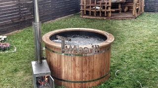 Wooden hot tubs with jets air or hydro bubbles SPA