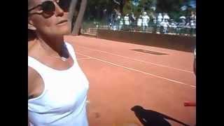 Jugando con raquetas antiguas de madera- DSCN9592