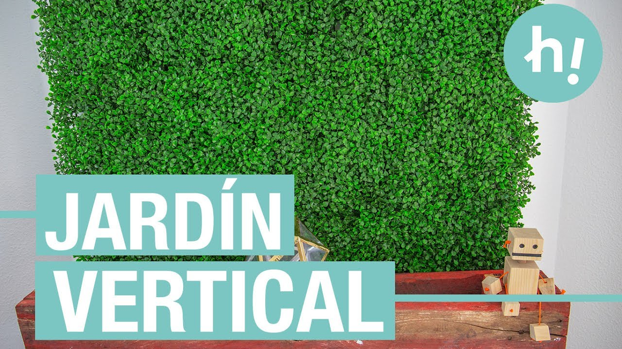 Jard n vertical artifical para la pared handfie diy for Ideas para decorar paredes de jardin