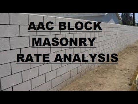 AAC Block Masonry - Rate Analysis