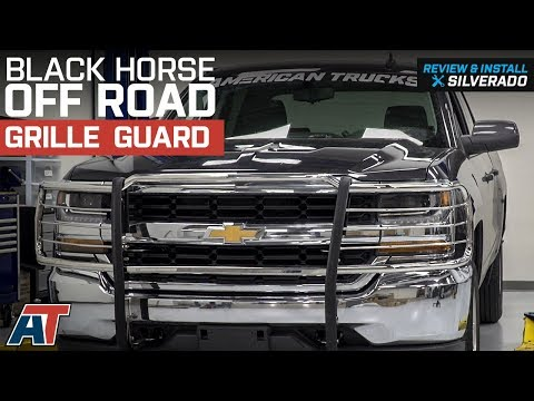 2014-2018 Silverado 1500 Black Horse Off Road Grille Guard - Stainless Steel Review & Install