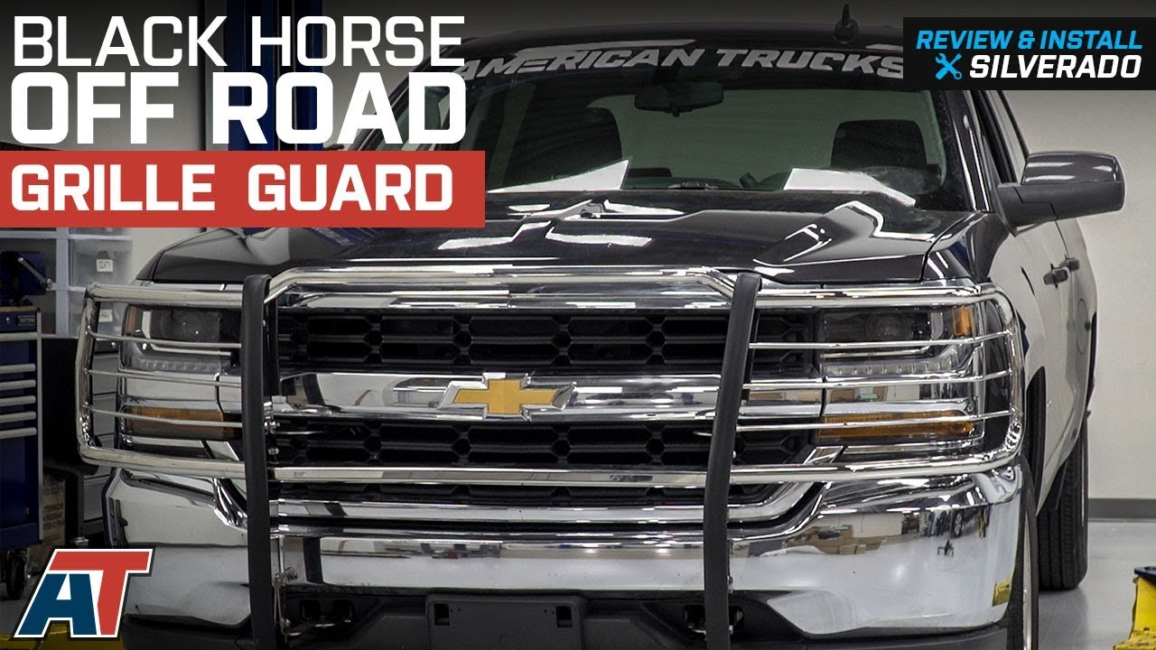 Black Horse Off Road >> 2014 2018 Silverado 1500 Black Horse Off Road Grille Guard Stainless Steel Review Install