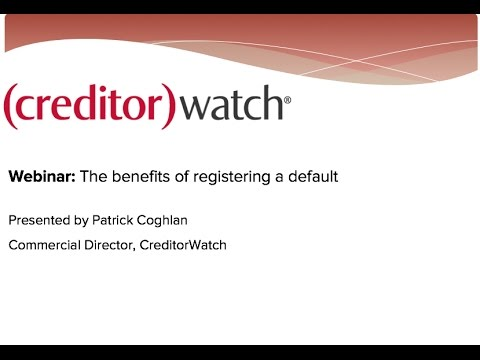 The benefits of registering a default