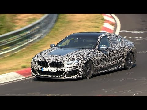 2020 BMW M850i Gran Coupe Testing on the Nurburgring