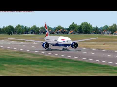 [PREPAR3D] Charter Flight Boeing 777-200LR British Airways EPML (Mielec) - ENVA (Trondheim-Værnes)
