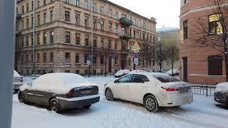 Russia, St. Petersburg | Walking tour. Urban atmosphere, sounds | Sixth Sovetskaya Street