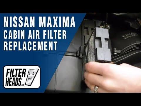 How to Replace Cabin Air Filter Nissan Maxima  YouTube