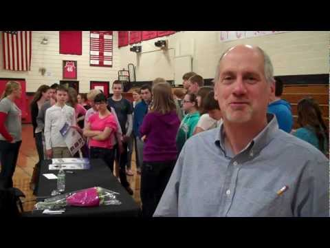 Reaction from Wiscasset High School to Olympian Julia Clukey's presentation