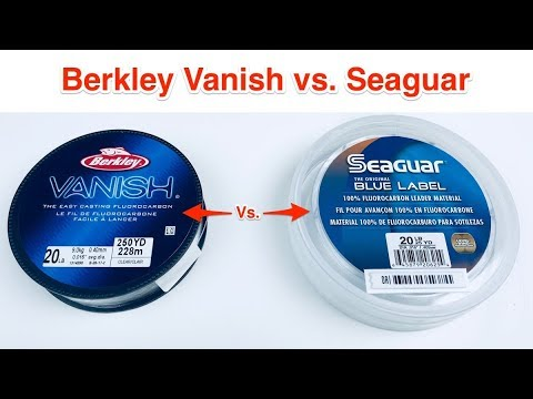 Berkley Vanish Vs Seaguar Blue Label (Fishing Line Experiment)