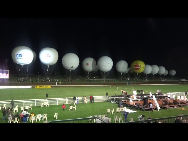 Gas balloons ready to take off at the 58th Coupe Aéronautique Gordon Bennett