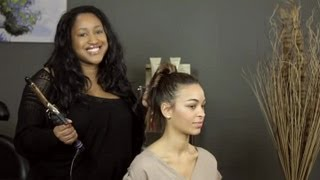 How to Style a Cheerleader Ponytail With Ringlet Curls : Hair Styling Advice