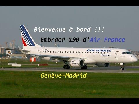 FS2004-Embraer 190 Genève-Madrid Air France