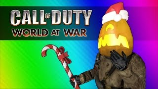 COD Zombies Funny Moments - Snowy Halloween (Stupidly Early Christmas)