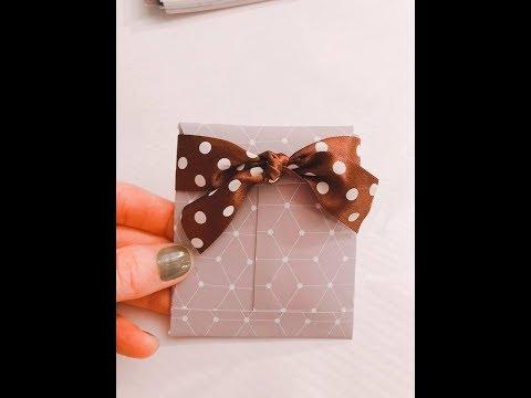 DIY easy envelope with paper -  How to make  mini envelope for gift samples/ perfume samples