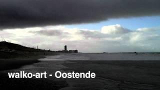 Blick auf Oostende, Bredene Strand, Ostend West-Vlaanderen (Westflandern), Beach