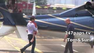 Tom Cruise & Suri Cruise Take a Helicopter Ride in New York City