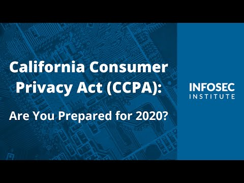 California Consumer Privacy Act: Are You Prepared for 2020?