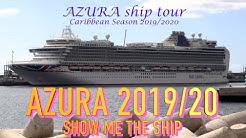 P&O AZURA passenger area tour November 2019
