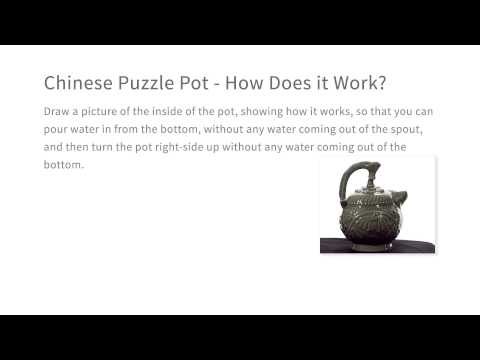 Chinese Puzzle Pot - How Does it Work? - Intro to the Design of Everyday Things