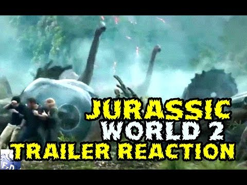 JURASSIC WORLD 2 FALLEN KINGDOM Teaser Trailer REACTION 2018 - VIDEOREACCION TRAILER EL VIERNES