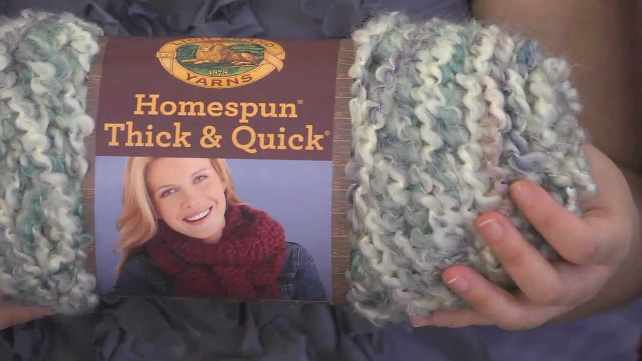 Get To Know Homespun Thick Amp Quick Yarn Youtube