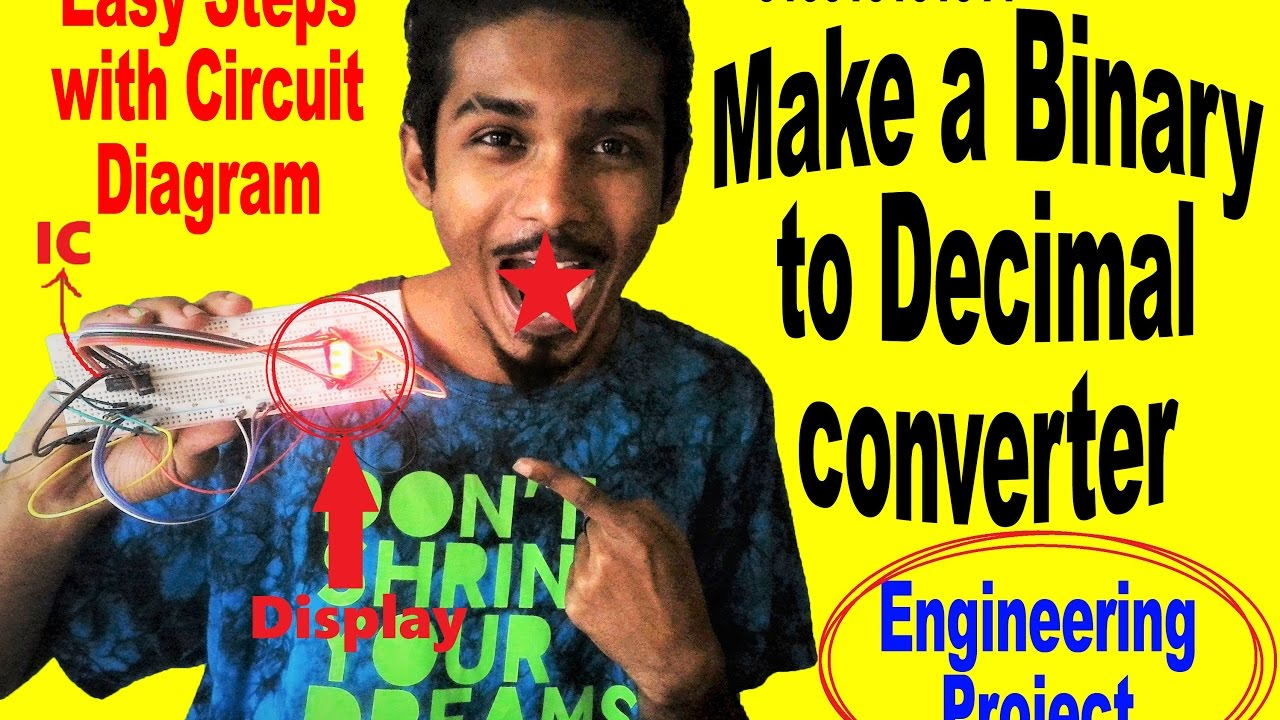 How To Make Binary Decimalbcd Counter Project With Circuit Bit Bcd Converter Also 8 Adder Diagram Like Share Subscribe