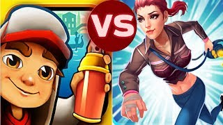 Subway Surfers - Subway Surfers VS Princess Dash Runner Gameplay Video