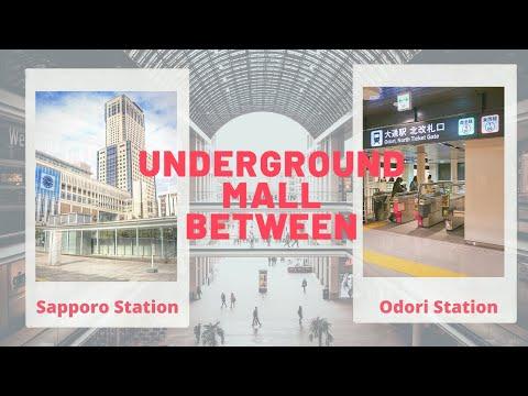 UNDERGROUND MALL FROM SAPPORO TO ODORI STATION (UNDERPASS) - SAPPORO JAPAN TOURIST DESTINATION