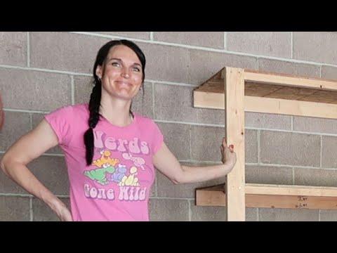 Wood Shelves for Garage- DIY