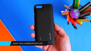 ZAAP  ACTIV iPhone 6/6S Battery Case  [MFi Certified by APPLE] 3100 mAh Slim power bank