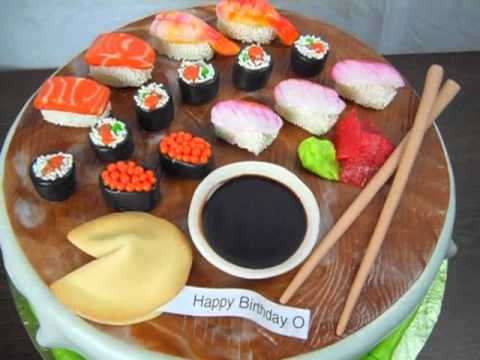 How To Make Fondant Sushi Cake