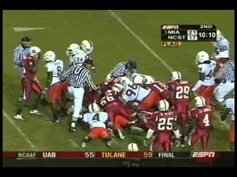 2004 Miami Hurricanes vs North Carolina State Wolfpack Highlights