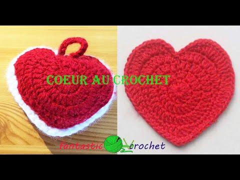 How to crochet a heart pattern comment faire un coeur au crochet youtube - Comment fabriquer un coeur ...