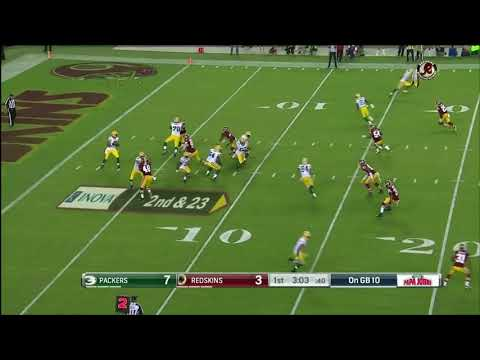 Zach Brown speed blows up screen, Jonathan Allen cleans up the play