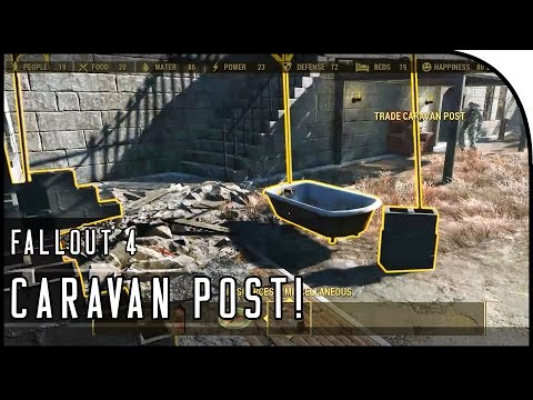 "Fallout 4 Gameplay Walkthrough Part 52 – ""HOW TO UNLOCK CARAVAN TRADING POST!"""