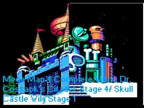 Mega Man 4 Complete Work: Dr. Cossack's Citadel: Stage 4/ Skull Castle Wily Stage 1