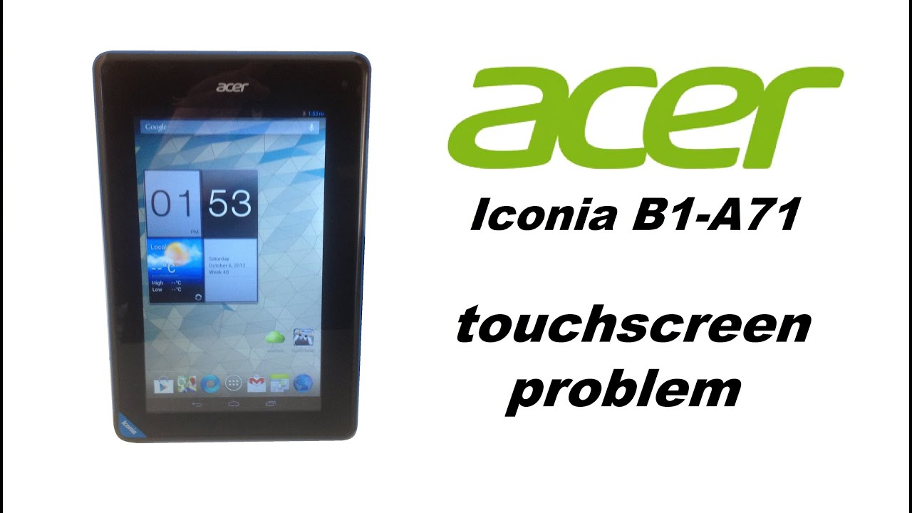 acer iconia b1 a71 touch screen problem solution youtube rh youtube com Acer Iconia 1 Latest Acer Tablet