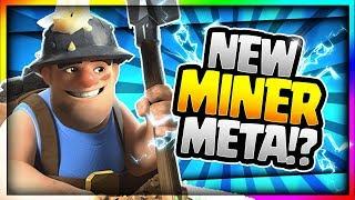 INSANE NEW MINER META!! Best Miner Deck after Update!? Clash Royale Miner Deck