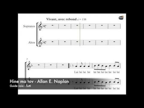 Naplan, Allan - Hine ma tov - Guide voix - Tutti
