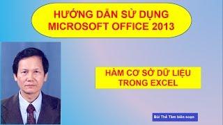 (8) Các hàm CSDL trong Excel - Tin học văn phòng - Bui The Tam