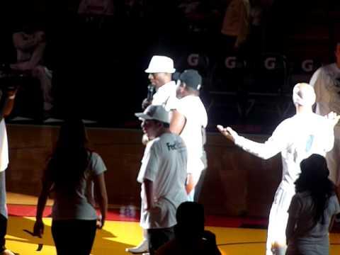 Miami Heat Karaoke contest @ NBA Finals Game 5 White Hot Road Rally